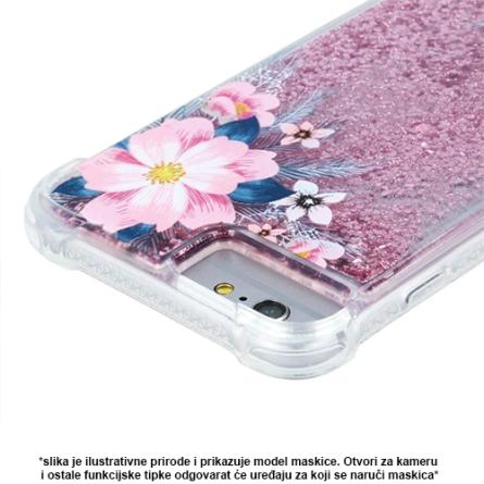 Liquid Pink Flower Silikonska Maskica za Galaxy S9 Plus 37948