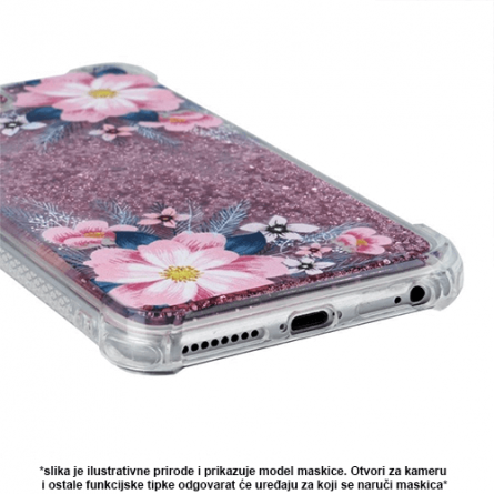 Liquid Pink Flower Silikonska Maskica za Galaxy S9 Plus 37949