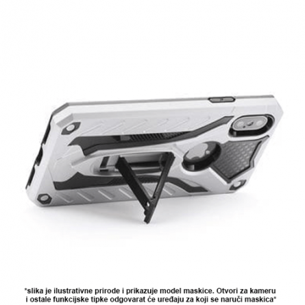 Srebrna Defender Stand Maskica za iPhone 5S 36812