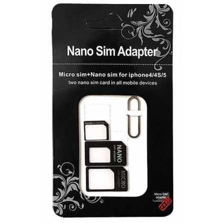 """Noosy"" Nano SIM na Micro SIM Adapter 4u1 21708"