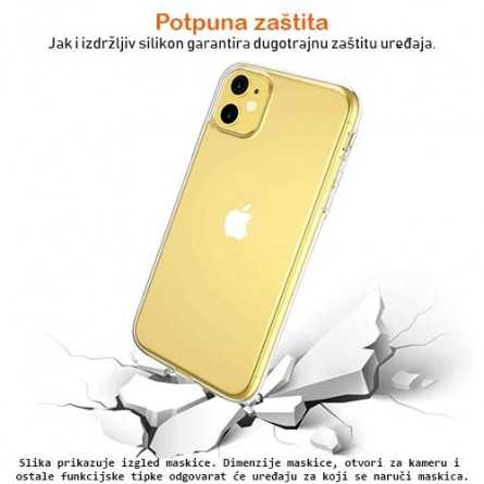 Ultra tanka Prozirna Silikonska maskica za iPhone XR 127239