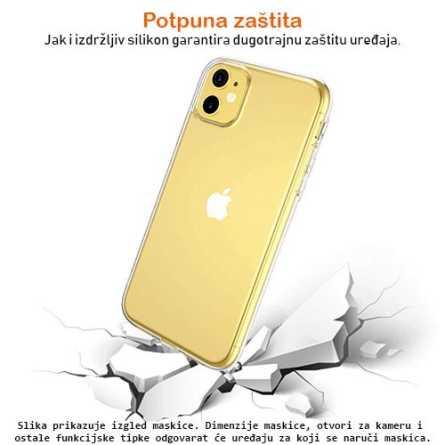 Ultra tanka Prozirna Silikonska maskica za iPhone X/XS 127244