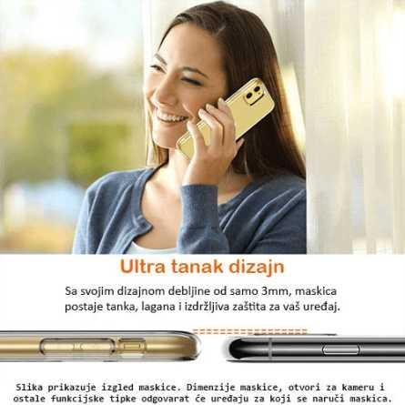 Ultra tanka Prozirna Silikonska maskica za Galaxy S9 Plus 127020