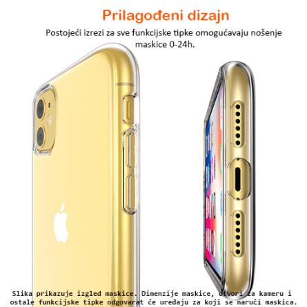 Ultra Tanka Prozirna Silikonska maskica za iPhone 11 31254