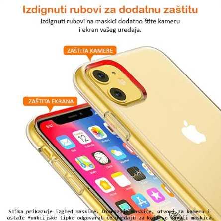 Ultra tanka Prozirna Silikonska maskica za iPhone X/XS 127247
