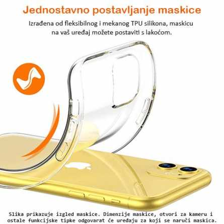 Ultra tanka Prozirna Silikonska maskica za LG K8 (2018) /K9 127178