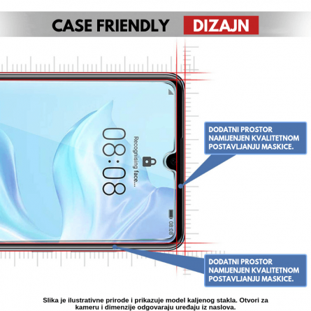 Kaljeno Staklo / Staklena Folija za Galaxy A7 (2018) 32416