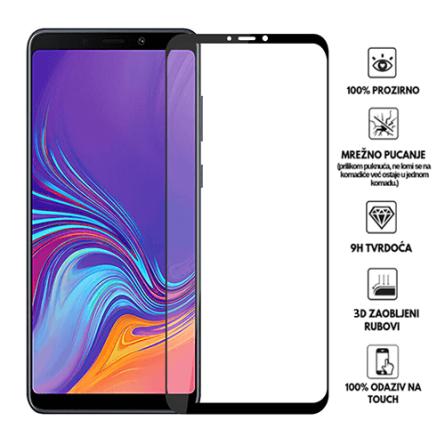 3D Zaobljeno Kaljeno Staklo za Galaxy A9 (2018) 34029