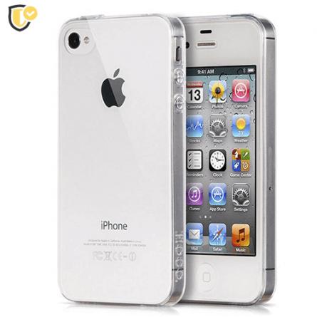 Ultra tanka Prozirna Silikonska maskica za iPhone 4/4s 31264
