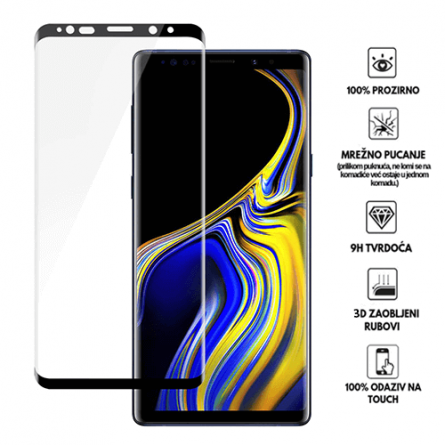 3D Zaobljeno Kaljeno Staklo za Galaxy Note 9 34058